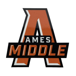 "3"" Die Cut Vinyl Decal - Ames Middle"