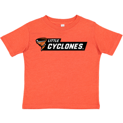 Rabbit Skins Toddler Fine Jersey Tee - Little Cyclones Black Bar