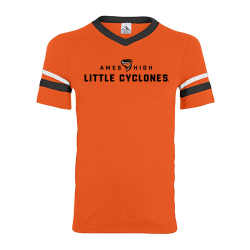 Augusta Sportswear V-Neck Jersey with Stripe Sleeves (Adult) - AHS Little Cyclones
