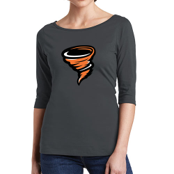 District Women's 3/4-Sleeve Boatneck Tee