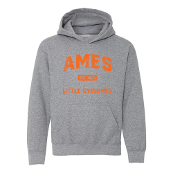 Gildan HeavyBlend Hooded Sweatshirt (Youth) - Ames Est 1870