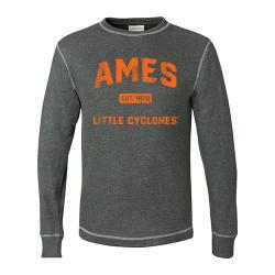 J. America Vintage Thermal Long Sleeve Shirt (Adult) - Ames Est 1870