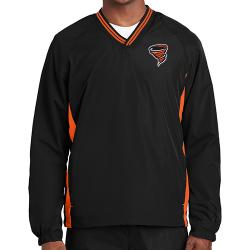 Sport-Tek Men's Tipped V-Neck Raglan Wind Shirt